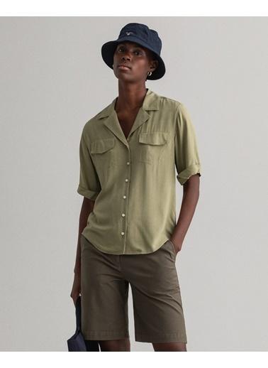 Gant Kadın Lightweight Safari Gömlek Yeşil